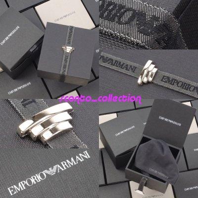 画像2: エンポリオアルマーニの超豪華、ロゴ入りメッシュブレスレット(レディース)