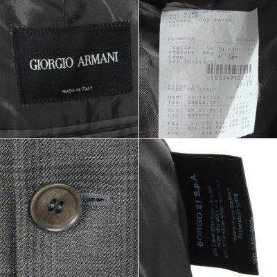 画像2: シルクxウール ジョルジオアルマーニ黒ラベル「グレージャケット」(50)A/W