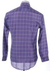 画像2: ジョルジオアルマーニ「黒ラベル」シルクxコットン混紡シャツ(41,42,43) (2)