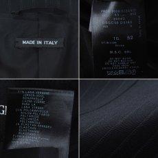 画像5: ジョルジオアルマーニ黒ラベル「紺色ストライプ」ジャケット(54/56)A/W (5)