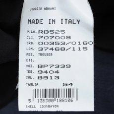 画像3: ジョルジオアルマーニ黒ラベル「しなやかレーヨンパンツ」(56)S/S (3)