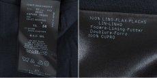 画像3: ジョルジオアルマーニ黒ラベル「定番のネイビー」リネンパンツ(58)S/S 特別大きいサイズ (3)