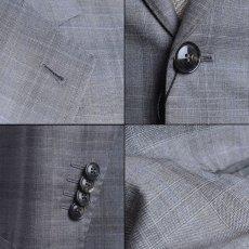 画像4: ジョルジオアルマーニ黒ラベルのチェックスーツ(50/52)S/S 【国内発送】 (4)