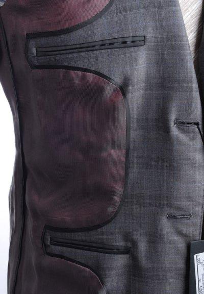 画像1: ジョルジオアルマーニ黒ラベルのチェックスーツ(50/52)S/S 【国内発送】