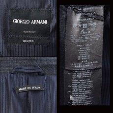 画像5: ジョルジオアルマーニ黒ラベル「TRADERモデル」チェックスーツ(56)A/W (5)