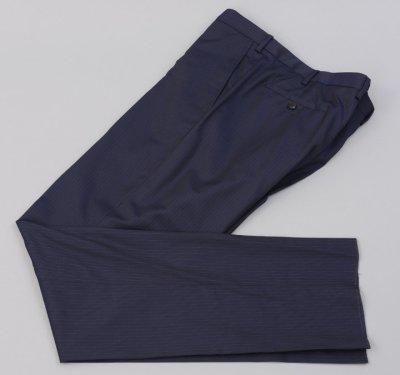 画像1: ジョルジオアルマーニ黒ラベル「TRADERモデル」紺色ストライプスーツ(58)S/S