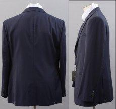 画像2: ジョルジオアルマーニ黒ラベル「TRADERモデル」紺色ストライプスーツ(58)S/S (2)