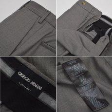 画像2: ジョルジオアルマーニ黒ラベル「カシミア混紡」グレイパンツ(44)A/W (2)