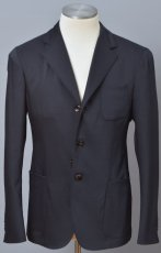 画像1: ジョルジオアルマーニ黒ラベル 紺色ジャケット (50/52/54) Uptonシリーズ ウールxシルク混紡 S/S (1)