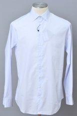 画像1: ジョルジオアルマーニ黒ラベル シャツ ストライプコットン製 (39/40/41) ライトブルー 青 (1)