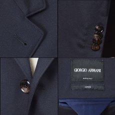 画像4: ジョルジオアルマーニ黒ラベル 紺色ジャケット (50/52/54) Uptonシリーズ ウールxシルク混紡 S/S (4)