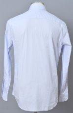 画像2: ジョルジオアルマーニ黒ラベル シャツ ストライプコットン製 (39/40/41) ライトブルー 青 (2)