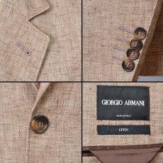 画像4: ジョルジオアルマーニ黒ラベル ウールx麻xシルク混紡「春夏 」ジャケット (50/54) Uptonシリーズ S/S (4)