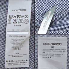 画像4: ジョルジオアルマーニ 黒ラベル コットン製 白x紺 シャツ(43/47) 大きいサイズ 「メタル製カラーキーパー付」 (4)