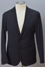 画像1: ジョルジオアルマーニ黒ラベル「CAPRIシリーズ」濃紺スーツ(50/52/58)S/S 無地 ネイビー (1)