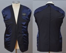 画像3: ジョルジオアルマーニ黒ラベル「CAPRIシリーズ」濃紺スーツ(50/52/58)S/S 無地 ネイビー (3)