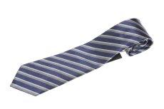 画像1: ジョルジオアルマーニ黒ラベル ネクタイ    紺色マルチストライプ (1)