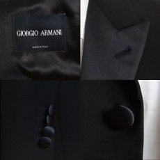 画像7: ジョルジオアルマーニ黒ラベル タキシードスーツ(46)冠婚葬祭 【国内発送】/結婚式 小さいサイズ 《《SALE》》  (7)