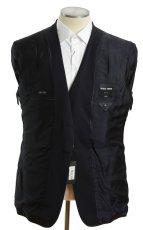 画像6: ジョルジオアルマーニ黒ラベル「SUPER 150's」ネイビースーツ(56)S/S 濃紺 TAYLORモデル (6)