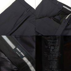 画像10: ジョルジオアルマーニ黒ラベル「SUPER 150's」ネイビースーツ(56)S/S 濃紺 TAYLORモデル (10)