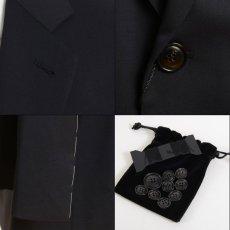 画像2: ジョルジオアルマーニ黒ラベル「SUPER 150's」ネイビースーツ(56)S/S 濃紺 TAYLORモデル (2)