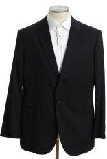 画像1: ジョルジオアルマーニ黒ラベル ブラックスーツ(56 SHORT) 黒色無地 冠婚葬祭 【国内発送】/結婚式 S/S (1)