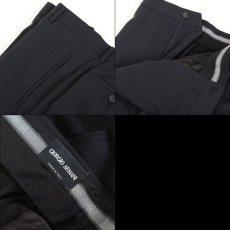 画像9: ジョルジオアルマーニ黒ラベル「ウール100%」定番ネイビースーツ(56L)S/S 濃紺無地 (9)