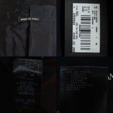 画像6: ジョルジオアルマーニ黒ラベル「ウール100%」定番ネイビースーツ(56L)S/S 濃紺無地 (6)