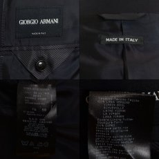 画像7: ジョルジオアルマーニ黒ラベル「ウール100%」定番ネイビースーツ(58)A/W 濃紺無地 (7)