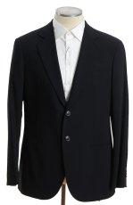 画像1: ジョルジオアルマーニ黒ラベル「ウール100%」定番ネイビースーツ(56)S/S 濃紺無地 (1)