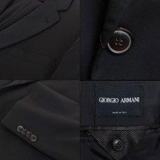 画像6: ジョルジオアルマーニ黒ラベル ブラックスーツ(56 SHORT) 黒色無地 冠婚葬祭 【国内発送】/結婚式 S/S (6)