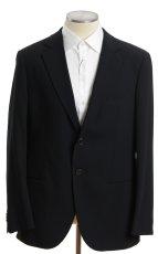 画像1: ジョルジオアルマーニ黒ラベル「ウール100%」定番ネイビースーツ(58)S/S 濃紺無地 (1)