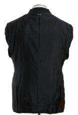 画像4: ジョルジオアルマーニ黒ラベル ブラックスーツ(56 SHORT) 黒色無地 冠婚葬祭 【国内発送】/結婚式 S/S (4)