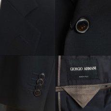 画像7: ジョルジオアルマーニ黒ラベル「ウール100%」定番ネイビースーツ(58)S/S 濃紺無地 (7)