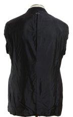 画像4: ジョルジオアルマーニ黒ラベル「ウール100%」定番ネイビースーツ(56L)S/S 濃紺無地 (4)