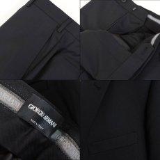 画像9: ジョルジオアルマーニ黒ラベル ブラックスーツ(56 SHORT) 黒色無地 冠婚葬祭 【国内発送】/結婚式 S/S (9)