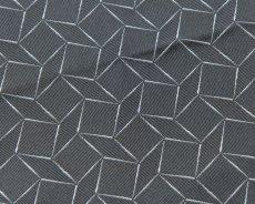 画像1: GIORGIO ARMANI ポケットチーフ ピュアシルク製 「幾何学模様」 (1)