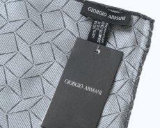 画像3: GIORGIO ARMANI ポケットチーフ ピュアシルク製 「幾何学模様」 (3)