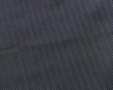 画像1: アルマーニコレツィオーニ ポケットチーフ  シルク製 「ヘリンボーン柄」 グレー (1)