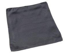 画像2: アルマーニコレツィオーニ ポケットチーフ  シルク製 「ヘリンボーン柄」 グレー (2)