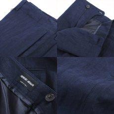 画像2: ジョルジオアルマーニ「黒ラベル」リネンパンツ(60) ブルー S/S (2)