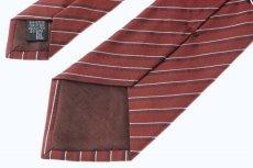 画像5: アルマーニコレツィオーニ ネクタイ 赤ストライプ (5)