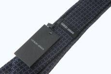 画像3: ジョルジオアルマーニ 「黒ラベル」 ネクタイ 紺色 (3)