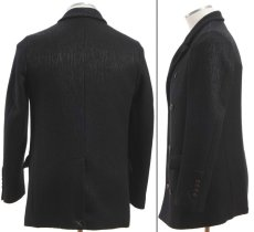 画像2: ジョルジオアルマーニのブラックアウタージャケット(48/50) ハーフコート (2)