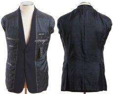 画像3: ジョルジオアルマーニ黒ラベル「ネイビージャケット」(48)A/W (3)