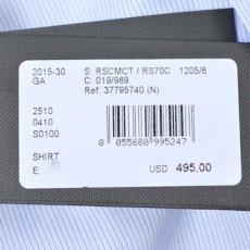 画像5: ジョルジオアルマーニ黒ラベル シャツ ストライプコットン製 (39/40/41) ライトブルー 青 (5)