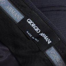 画像9: ジョルジオアルマーニ黒ラベル ウール 「SOHOモデル」濃紺無地スーツ(60)A/W (9)