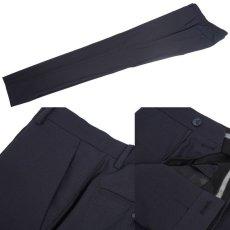 画像8: ジョルジオアルマーニ黒ラベル ウール 「SOHOモデル」濃紺無地スーツ(48)A/W (8)