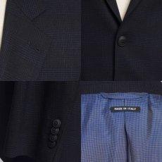 画像6: ジョルジオアルマーニ黒ラベル ウール「SOHOモデル」チェック柄スーツ(48L/50L)A/W (6)
