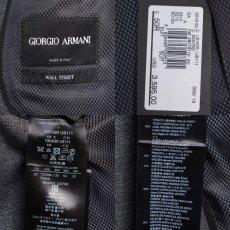 画像7: ジョルジオアルマーニ黒ラベル ウール製「WALL STREETシリーズ」 シングルングルブレストスーツ(50)A/W グレー (7)